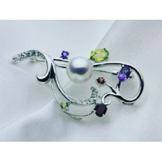 あこや真珠を使ったブローチ #真珠 #ブローチ#アクセサリー #ビンゴショップ  #福山市